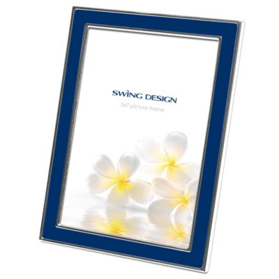 Swing Design™ Zoe 5-Inch x 7-Inch Picture Frame in Navy/Silver