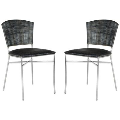 Safavieh Melita Side Chairs in Black (Set of 2)