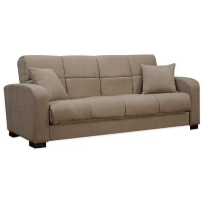 Handy Living Damen Convert-a-Couch® in Grey Microfiber
