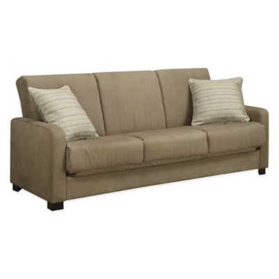 Handy Living Convert-a-Couch® in Grey Microfiber