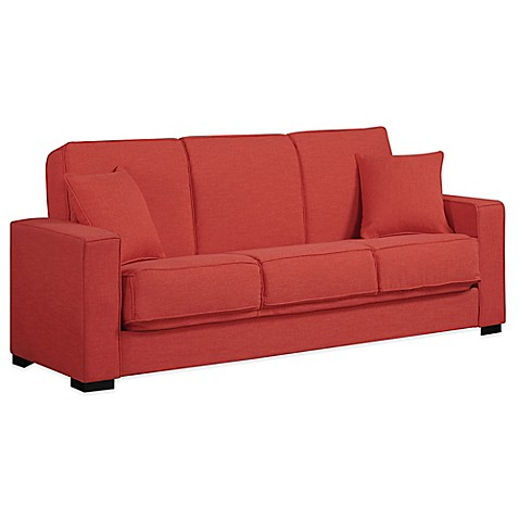 Buy Handy Living Malibu Convert A Couch In Sunrise Red Linen From Bed Bath Beyond