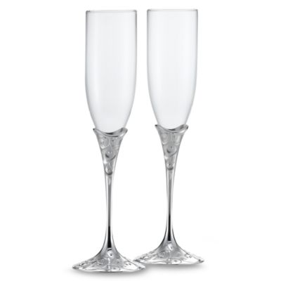 Lenox® Opal innocence™ Silver Plated 6-Ounce Toasting Flutes (Set of 2)