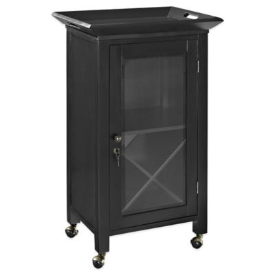 Buy Crosley Newport Expandable Bar Cabinet In Black From
