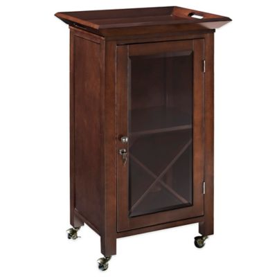 Crosley Jefferson Portable Bar in Mahogany