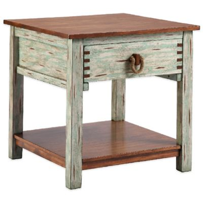 Madras Blue End Table