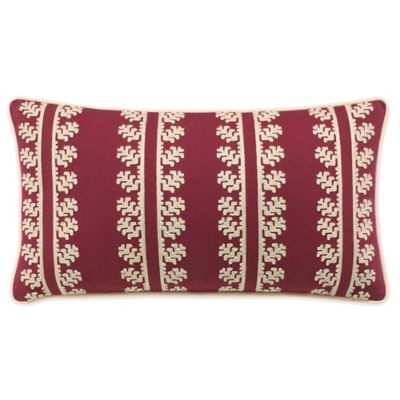 Lady Antebellum Heartland™ Belle Meade Oblong Throw Pillow in Red