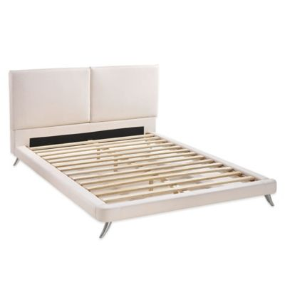 Zuo® Rivette King Platform Bed in White