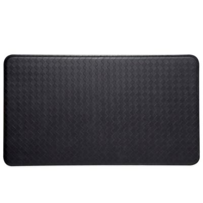 Imprint® Nantucket 26-Inch x 48-Inch Anti-Fatigue Comfort Mat in Black