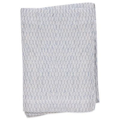 Villa Di Borghese Portofino Jacquard Luxury Italian-Made Bed Scarf in Blue