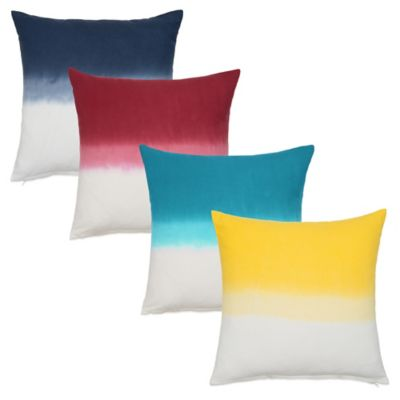 Nine Space Dip-Dye Ombré Square Decorative Pillow in Navy