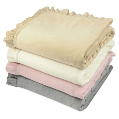 Vue® Ruffle-Edge Fashion Sherpa Throw in Light Grey
