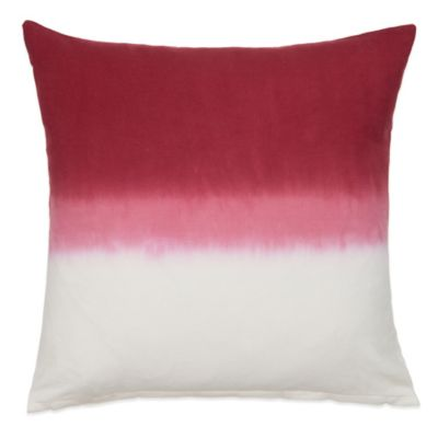 Nine Space Dip-Dye Ombré Square Decorative Pillow in Red