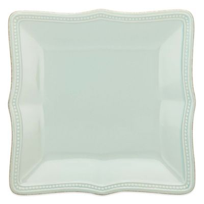 Lenox® French Perle Bead Square Accent Plate in Ice Blue