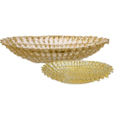 Gold Bowls Glass