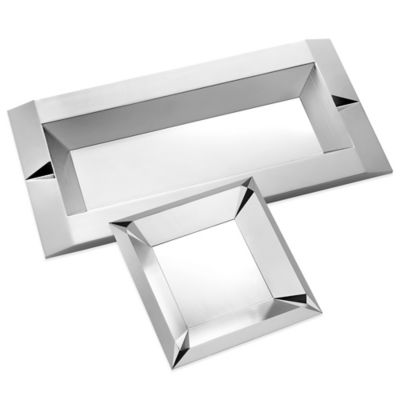Vera Wang Wedgwood® Vera Peplum Square Tray in Silver