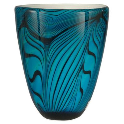 Dale Tiffany™ 9-Inch Art Glass Wave Vase in Blue