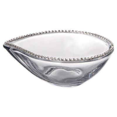Classic Touch Italian Oval-Shaped Dish with Swarovski® Crystals