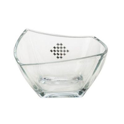 Classic Touch Italian Glass Square Bowl