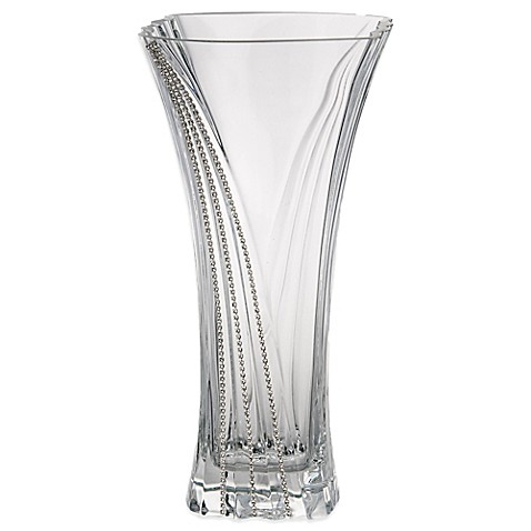 Buy Classic Touch Italian Wavy Bud Glass Vase With