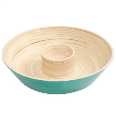 Gibson Overseas Bamboo Chip & Dip Tray in Blue