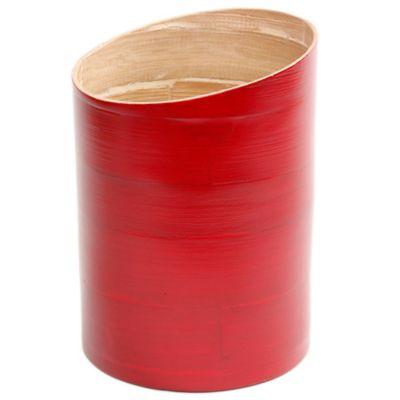 Gibson Overseas Bamboo Utensil Holder in Red
