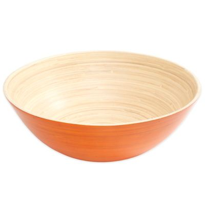 Orange Bamboo Bowl