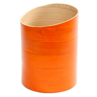 Gibson Overseas Bamboo Utensil Holder in Orange