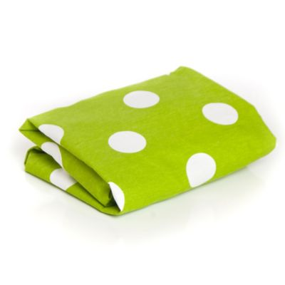 Glenna Jean Ellie & Stretch Crib Fitted Sheet in White/Green