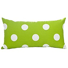 Glenna Jean Ellie & Stretch Rectangle Throw Pillow in White/Green