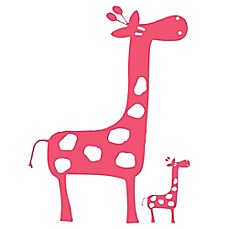 Glenna Jean Ellie & Stretch Giraffe Wall Decals in Pink (Set of 2)