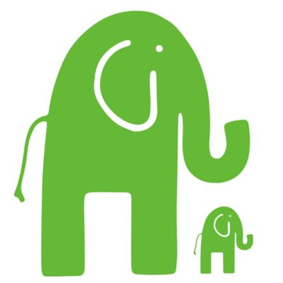 Glenna Jean Ellie & Stretch Elephant Wall Decals in Green (Set of 2)