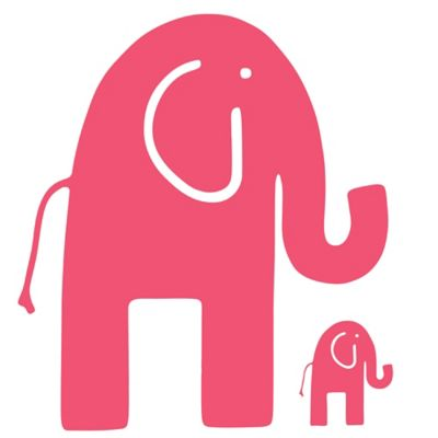 Glenna Jean Ellie & Stretch Elephant Wall Decals in Pink (Set of 2)