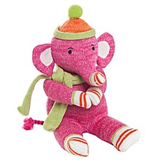 Glenna Jean Ellie & Stretch Plush Elephant in Pink