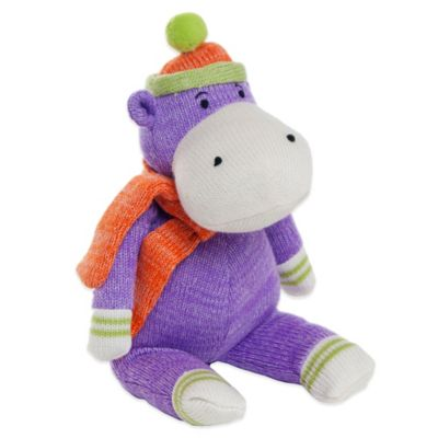 Glenna Jean Ellie & Stretch Plush Hippo in Purple