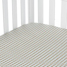 Glenna Jean Central Park Houndstooth Fitted Crib Sheet