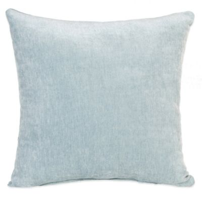 Glenna Jean Central Park Velvet Throw Pillow in Blue