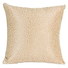 Glenna Jean Central Park Embroidered Throw Pillow in Coral