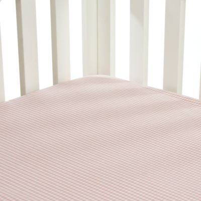 Glenna Jean Isabella Gingham Fitted Crib Sheet in Pink