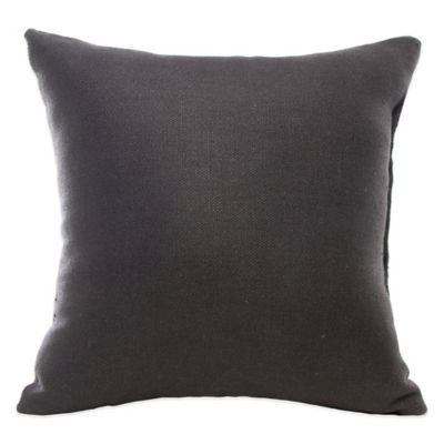 Glenna Jean Kirby Square Throw Pillow in Charcoal