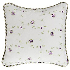 Glenna Jean Penelope Floral Embroidered Throw Pillow