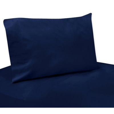 Sweet Jojo Designs 3-Piece Twin Sheet Set in Solid Navy
