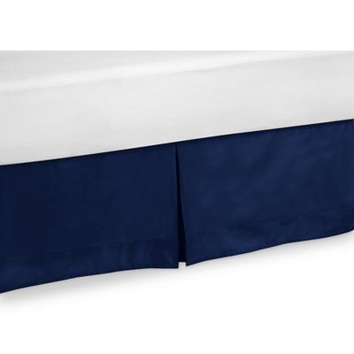 Sweet Jojo Designs Queen Bed Skirt in Solid Navy