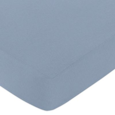 Ocean Blue Fitted Crib Sheet in Blue
