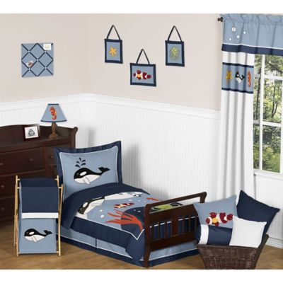 Sweet Jojo Designs Ocean Blue 5-Piece Toddler Bedding Set