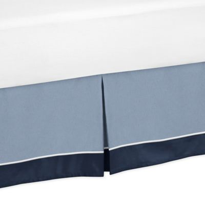 Sweet Jojo Designs Ocean Blue Toddler Bed Skirt