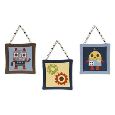 Sweet Jojo Designs Robot 3-Piece Wall Hanging Set