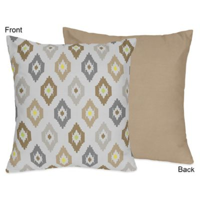 Sweet Jojo Designs Safari Outback Reversible Throw Pillow