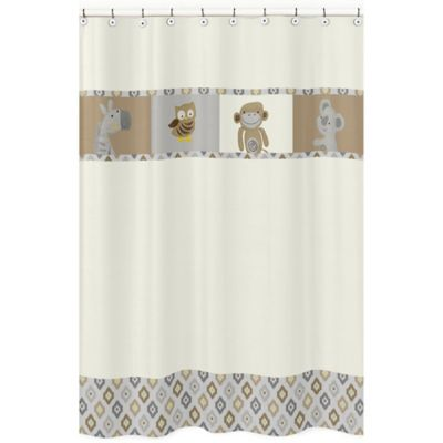 Sweet Jojo Designs Safari Outback Shower Curtain