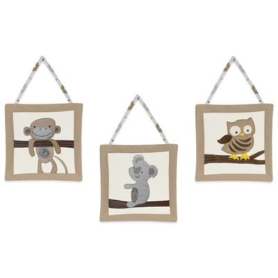 Sweet Jojo Designs Safari Outback 3-Piece Wall Hanging Set