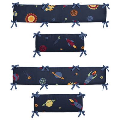 Sweet Jojo Designs Space Galaxy 4-Piece Crib Bumper Set